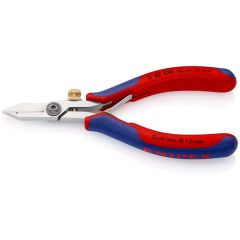 KNIPEX 11 82 130 Electronics Wire Stripping Shears with multi-component grips 140 mm