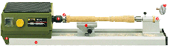Proxxon - MICRO woodturning lathe DB 250 - 27020