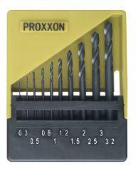 Proxxon - 28874 HSS twist drill set, 10 pcs. (0.3 to 3.0 mm)