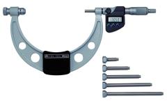 Mitutoyo Digital Micrometer Interchangeable Anvil 0-150mm, IP65, incl. 6 Anvils 340-251-30