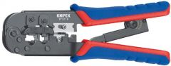 Knipex 97 51 10 Crimping Pliers for Western plugs with multi-component grips burnished 190 mm