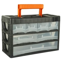 BLACK+DECKER - Portable Cabinet with Carry Handle for Multipurpose Home/Tool Storage (7 Drawers) - BDST73829-8