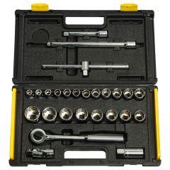 Stanley - 26Pcs 1/2 Drive Metric 12 Point Socket Set 86-477