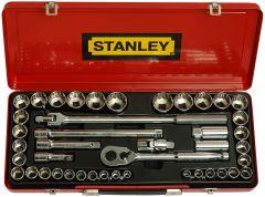 Stanley - 43Pcs 1/2 Drive 12 Point Socket Set 89-509
