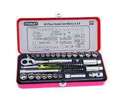 Stanley - 46pcs 1/4 & 3/8 Drive Socket & Bit Set 89-516
