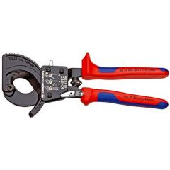 KNIPEX 95 31 250 Cable Cutter (ratchet action) with multi-component grips black lacquered 250 mm