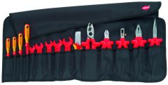 Knipex 98 99 13 Tool Roll 15 parts with insulated tools for works on electrical installations