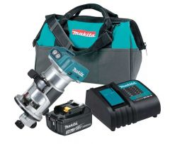Makita - DRT50SFX8 Cordless Trimmer 18V LXT BL Brushless Cordless 6 mm (1/4″), 8 mm (3/8″) Variable Speed Trimmer with Dual LED Lights