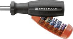 """PBSwiss - Insider Pro universal bit holder for 1/4"""" bits with integrated bit magazine and 10 PrecisionBits C6 - PB 6510.20"""